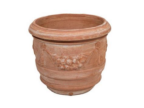 vaso terracotta prezzo vaso a barile festonato vaso in terracotta
