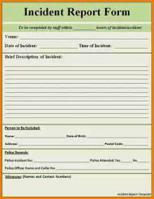 template incident report form doc 609791 incident report form free incident report
