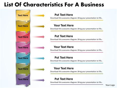 business powerpoint templates list of characteristics for