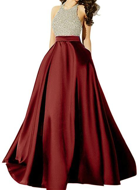 Halter Backless Dress a line halter backless sequins floor length prom dress