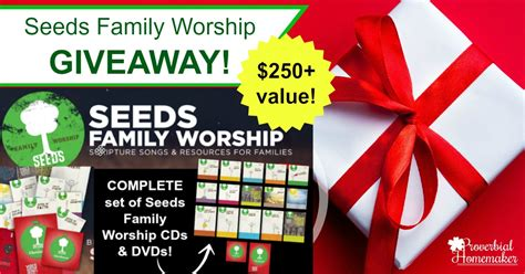 The Great Christmas Giveaway Lyrics - seeds family worship giveaway 250 value proverbial homemaker