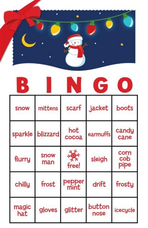 printable christmas family games snowman family with lights free christmas bingo game