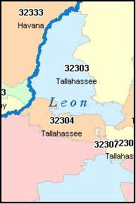 tallahassee florida fl zip code map downloads