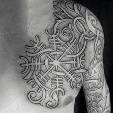 viking chest tattoo 100 norse tattoos for designs