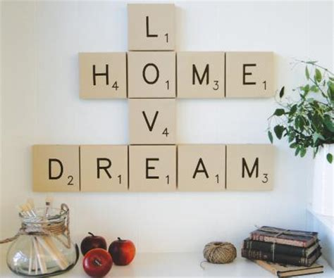 scrabble home decor set of scrabble letters smile wall art