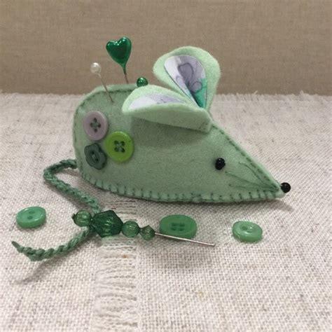 Handmade Pincushions - mouse pincushion handmade pincushions lavender felt
