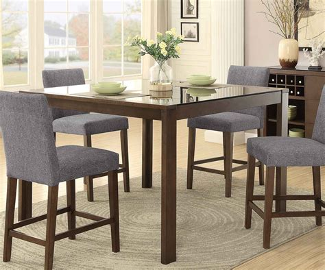 counter height glass dining table homelegance fielding rectangular counter height dining