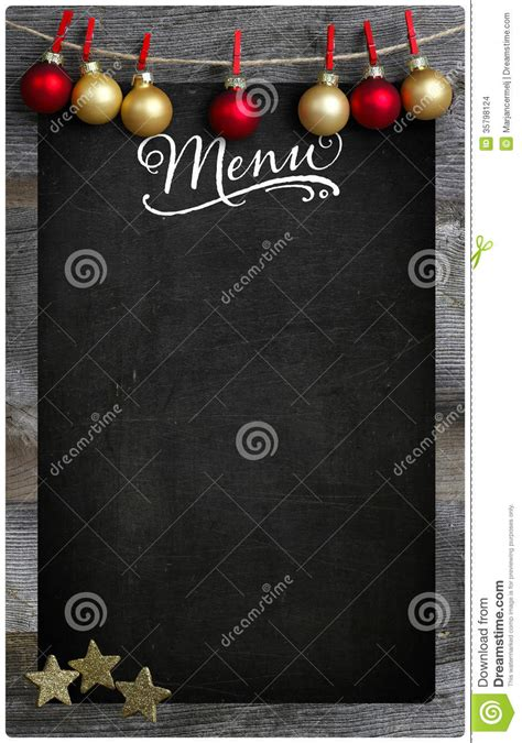 christmas restaurant menu wooden blackboard copy space stock images image