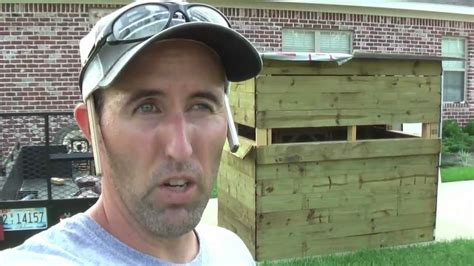 Enclosed Hunting Blinds How To Build Box Blind Deer Stand Shooting House Youtube
