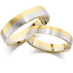 Wedding Bands Bridesmaid Dresses Wedding Band In 9 Ct Yellow And White Gold