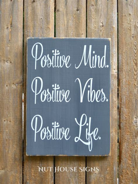 printable quotes for wooden signs good vibes wood sign positive life mind inspirational wall