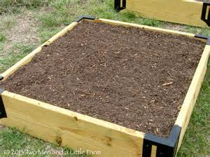 two and a farm raised garden beds step three