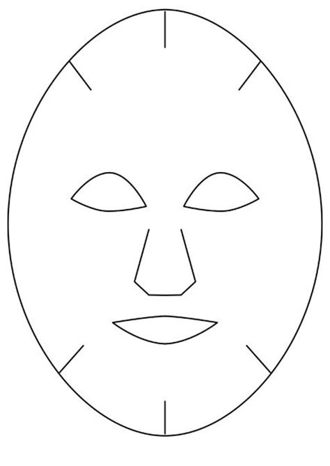 printable witch mask template best photos of basic mask template masquerade mask