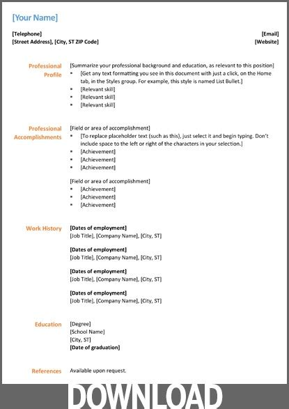 resume format for docx 12 free microsoft office docx resume and cv