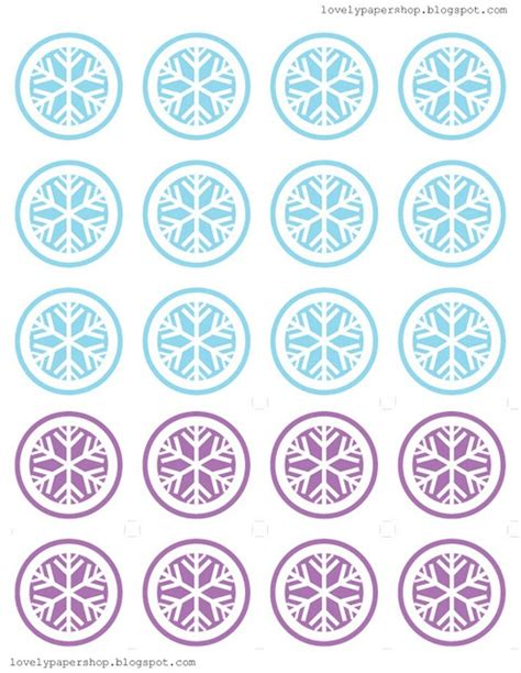 printable snowflake template for cupcakes 208 best images about just frozen bottle caps images on