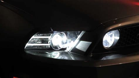 mustang hid lights led and hid technology lights up 2013 ford mustang gt