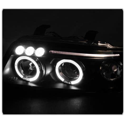 led len außen 00 01 audi a4 style halo projector headlights chrome