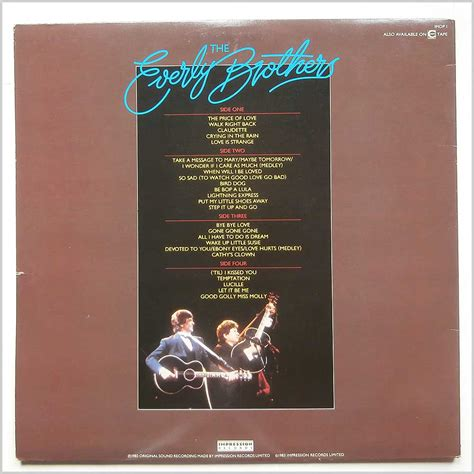 Everly Brothers Reunion Concert Vinyl - everly brothers rock record lp for sale