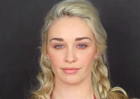 daenerys targaryen actress without makeup get the look emilia clarke s khaleesi make up in game of
