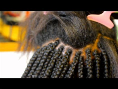 learn how to part hair for box braids loose box braids with feather tips youtube
