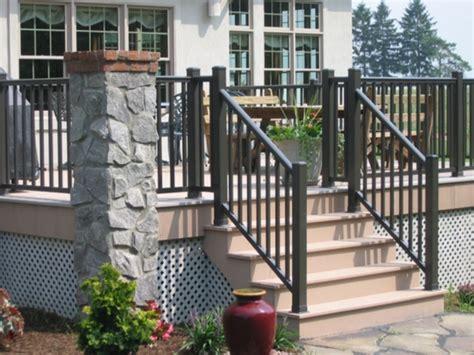 attractive  durable vinyl stair railing jessie home