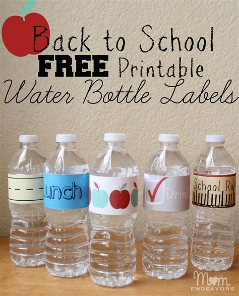printable labels water bottles easy fun drink ideas for school lunches with free
