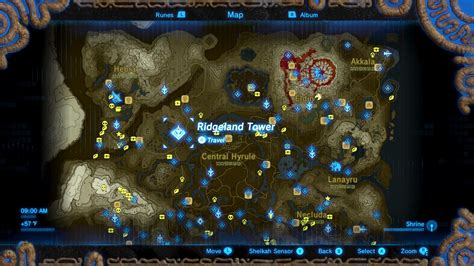 all the important locations throughout the quest zelda breath of the wild guide trial of thunder shrine