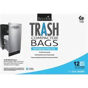 trash compactor bags jet com bestair wmck1335012 6 trash compactor bags 12 bags