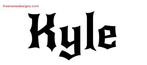 kyle archives free name designs
