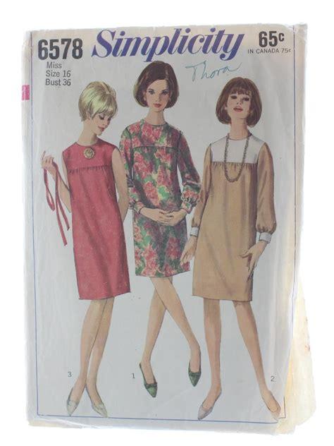 dress pattern no zip 1960s vintage sewing pattern 60s simplicity pattern no
