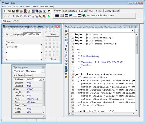 layout java exle start java editor