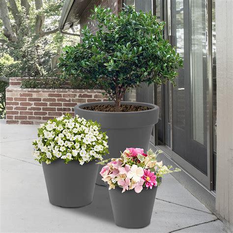 weather outdoor indoor plastic plant flower pots small