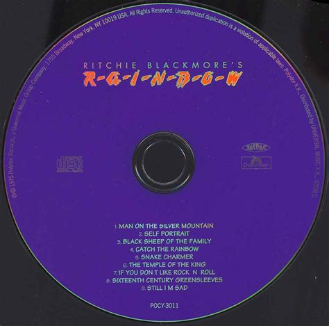 Page The Rainbow Cd tapio s ronnie dio pages rainbow cd discography february 1975 july 1975
