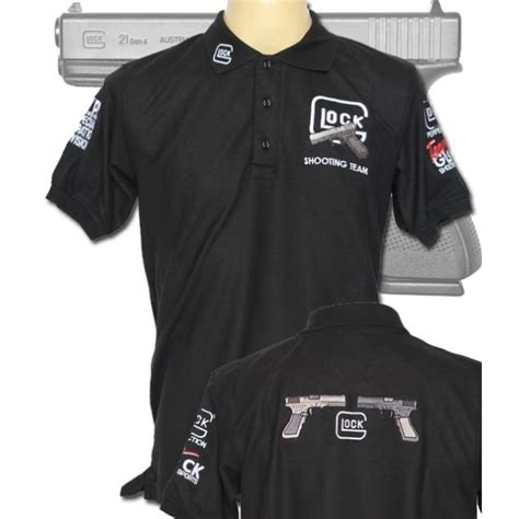Kaos T Shirt Skater glock shooting team nypd polo shirt