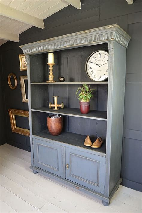 gray bookcase with doors this dutch open bookcase with cupboard doors has fantastic