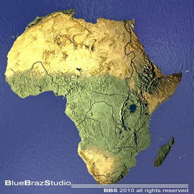africa map 3d 3d model africa maps