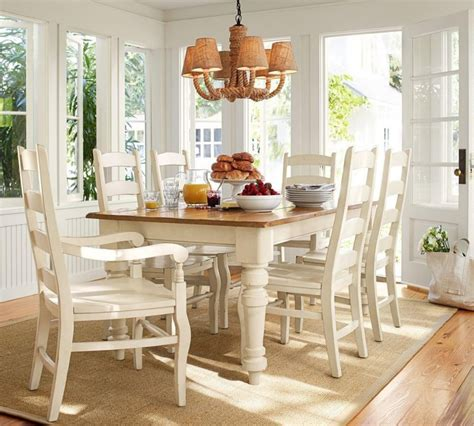 kitchen table white legs wood top tables chairs sumner pottery barn extending kitchen