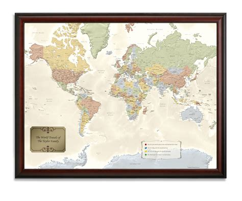 world map pin cities world traveler map personalized from onlyglobes