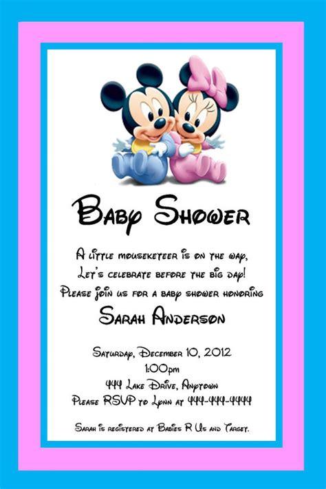 free printable baby shower invitations baby mickey