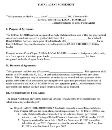 Agency Agreement Letter Format Agreement Template 9 Free Word Pdf Documents Free Premium Templates