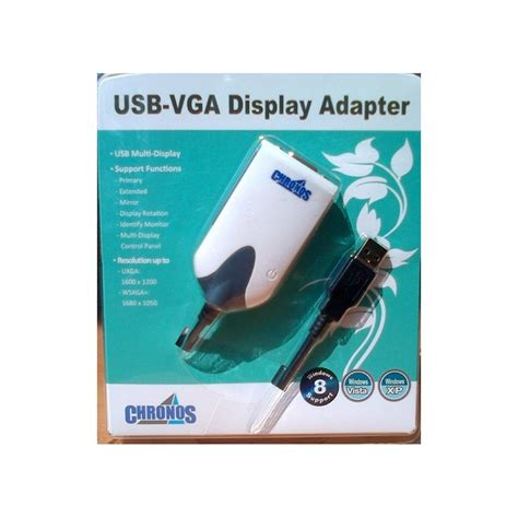 jual harga chronos usb 2 0 to vga display adapter