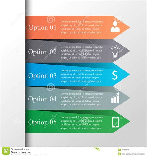 web layout options arrows infographic template stock vector image 66825662