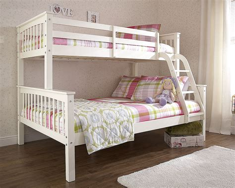Cheap White Wooden Bunk Beds Novaro White Wood Bunk Bed Discount Furnishings