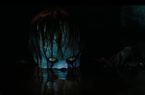 film it s in the water it trailer pennywise floats up from the sewers