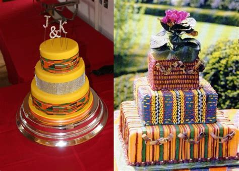 African cloth patterns for cake decor! #veryclever