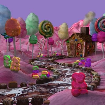 candy house 3d model of hansel gretel candy house scene hansel gretel candy house collection