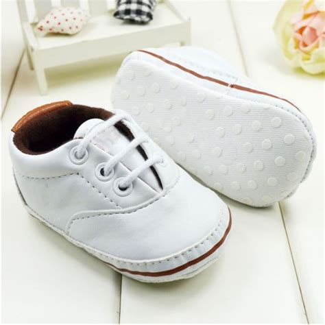 Crib Shoes by Unisex Baby Soft Sole Pram Crib Shoes Toddler Prewalker Leather Sneakers 0 18m In Walkers