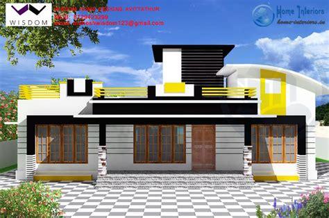 Contemporary Style Kerala Home Design modern single storied kerala home plan 4bhk