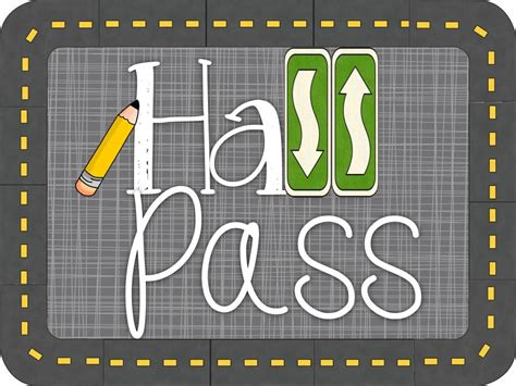 hallway pass krazee 4 kindergarten hall pass linky