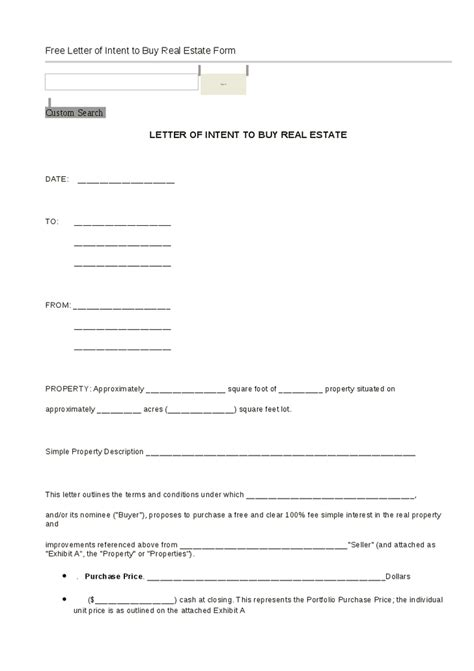 Letter Of Intent To Purchase Form Letter Of Intent To Buy Real Estate Form Hashdoc